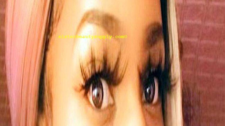 long fake eyelashes